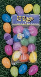 12 Count Plastic Easter Eggs