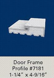 """1-1/4"""" x 4-9/16"""" White Vinyl Door 3' x 6'-8"""" Wide Frame Set"""