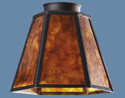 "Patriot Lighting 2-1/4"" Fitter Mica Glass with Black Trim"