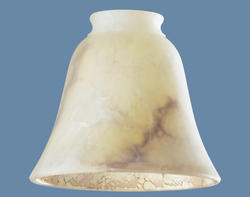"Patriot Lighting 2-1/4"" Fitter Brown Marble Bell Glass"