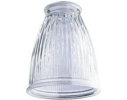 "Patriot Lighting 2-1/4"" Fitter Clear Pleated Design Glass"