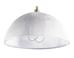 "Patriot Lighting 8"" Prismatic Dome Acrylic Clip-On Shade"