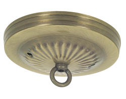 Patriot Lighting Antique Brass Finish Traditional Canopy Kit