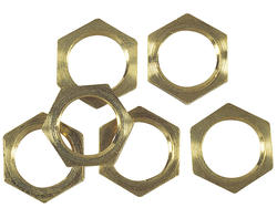 Patriot Lighting Solid Brass Locknuts (6-Pack)