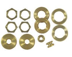 Patriot Lighting Assorted Solid Brass Locknuts (12-Pack)