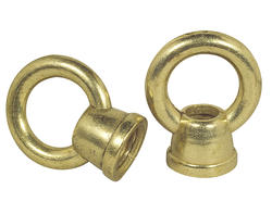 "Patriot Lighting 1"" Brass Finish Diameter Female Loops (2-Pack)"