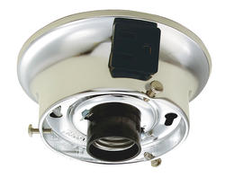 "Patriot Lighting 3-1/4"" Chrome Finish Holder with Convenience Outlet"