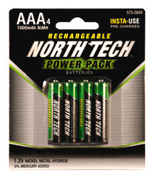 North Tech® AAA Precharged NiMH Batteries - 4 pk.