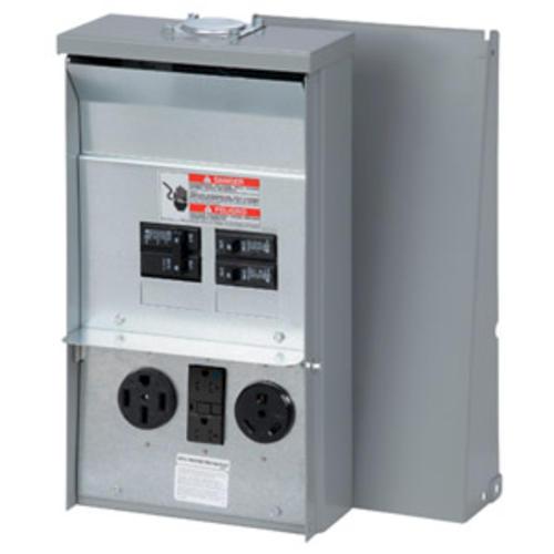 eaton 50 amp 30 amp 20 amp 120 240 vac outdoor rv panel at