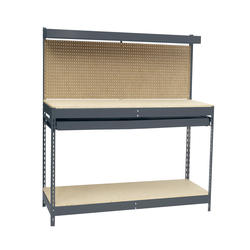Edsal 4' Heavy-Duty Workbench with Single Drawer