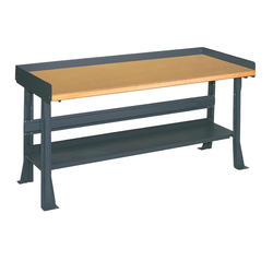 "Edsal Basic Plus 60"" x 30"" x 34"" Flared Leg Shop Top Workbench"
