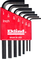 Eklind Hex L-Key Short Series Set with Holder (7-Piece)