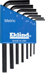 Eklind Metric Hex L-Key Short Series Set with Holder (7-Piece)