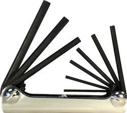 Classic Steel Fold-Up Hex Key Set (9-Piece)