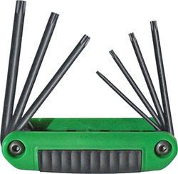 Security Torx Series Fold-up Set with Ergonomic Handle (7-Piece)