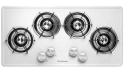 "Frigidaire® 36"" Black-on-White Gas Built-In Cooktop"