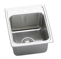 "Lustertone SS 17""x22"" Single Bowl Top Mount Utility Sink"