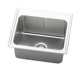 """Lustertone SS 25""""x22"""" Single Bowl Top Mount Kitchen Sink"""