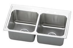 "33"" x 19-1/2"" Double Bowl Sink"