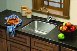 """Lustertone SS 18-1/2""""x18-1/2"""" Single Bowl Undermount Kitchen Sink With Reveal"""