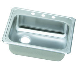 "Gourmet SS 25""x21"" Top Mount Single Bowl Kitchen Sink"