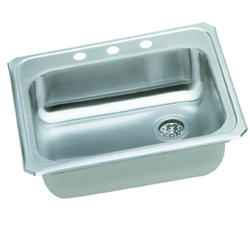 "Celebrity SS 25""x21-1/4"" Single Bowl Top Mount Kitchen Sink"
