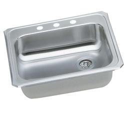 "Gourmet SS 25""x21"" Top Mount Single Bowl Kitchen Sink"