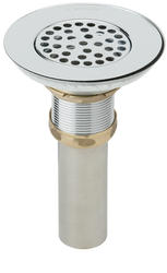 Drain Fitting With Grid Strainer