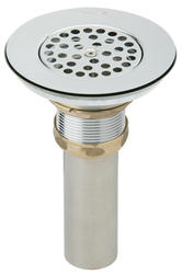 Vandal Resistant Drain Fitting With Grid Strainer