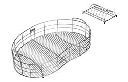 """Wavy Wire SS 14-3/4""""x26-1/2"""" Rinse Basket"""