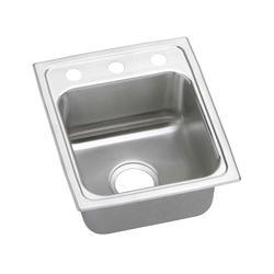 """Lustertone SS 13""""x16"""" Single Bowl Top Mount Kitchen Sink"""