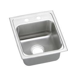 """Lustertone SS 15""""x17-1/2"""" Single Bowl Top Mount Kitchen Sink"""