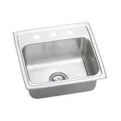 """Lustertone SS 19-1/2""""x19"""" Single Bowl Top Mount Kitchen Sink"""