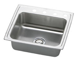 "Lustertone SS 22""x19-1/2"" Single Bowl Top Mount Kitchen Sink"