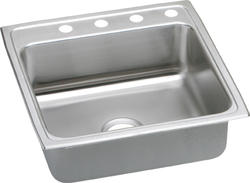 "Lustertone SS 22""x22"" Single Bowl Top Mount Kitchen Sink"