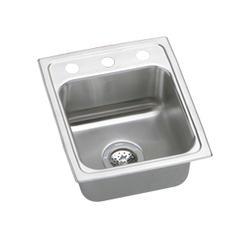 """Lustertone SS 15""""x17"""" Single Bowl Top Mount Kitchen Sink"""