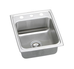 "Lustertone SS 17""x20"" Single Bowl Top Mount Kitchen Sink"
