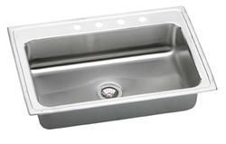 """Lustertone SS 33""""x22"""" Single Bowl Top Mount Kitchen Sink"""