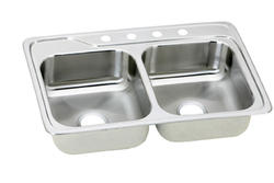 "Aristo™ 33"" x 22"" Double Bowl Topmount Kitchen Sink"