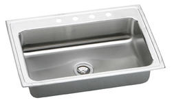 "Pacemaker SS 33""x22"" Oversized Single Bowl Top Mount Kitchen Sink"