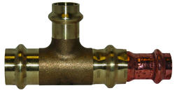 "1"" x 3/4"" x 3/4"" Copper Press Fitting - Tee"
