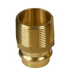 "3/4"" x 1/2"" Copper Press Fitting - Male Adapt 10-Pk"