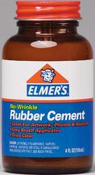 Elmer's No Wrinkle Rubber Cement - 4 oz