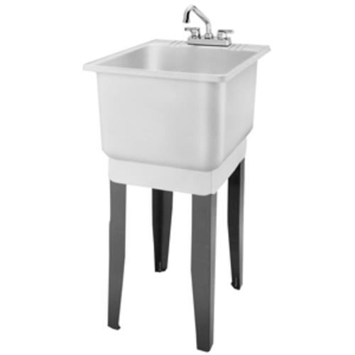 Laundry Tub Plastic : ... 18 in. x 23.5 in. Plastic Floor-Mount Combo Laundry Tub at Menards