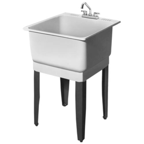 ... Combo All-in-One 25 in. x 23 in. Polypropylene Floor-Mount Laundry Tub