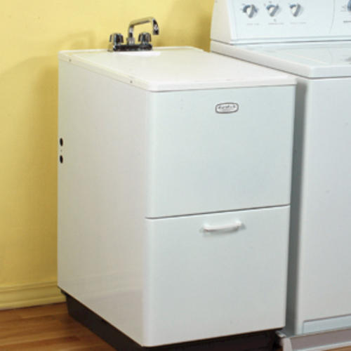 Mustee Utility Sink : ... 19-1/4 in. x 35-1/2 in. Structural Thermoplastic Cabinet Laundry Tub