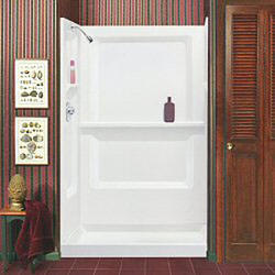Mustee Durawall 48 in. x 34 in. x 73-1/4 in. Three Piece Direct-to-Stud Shower Wall