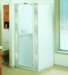 Mustee Durastall 36 in. x 36 in. x 78 in. Standard Shower Stall in White
