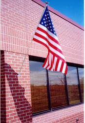 2' x 3' U.S. Flag Set with 4' Pole