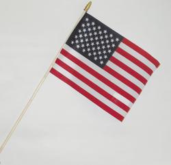 "8"" x 12"" U.S. Stick Flag (2-Pack)"
